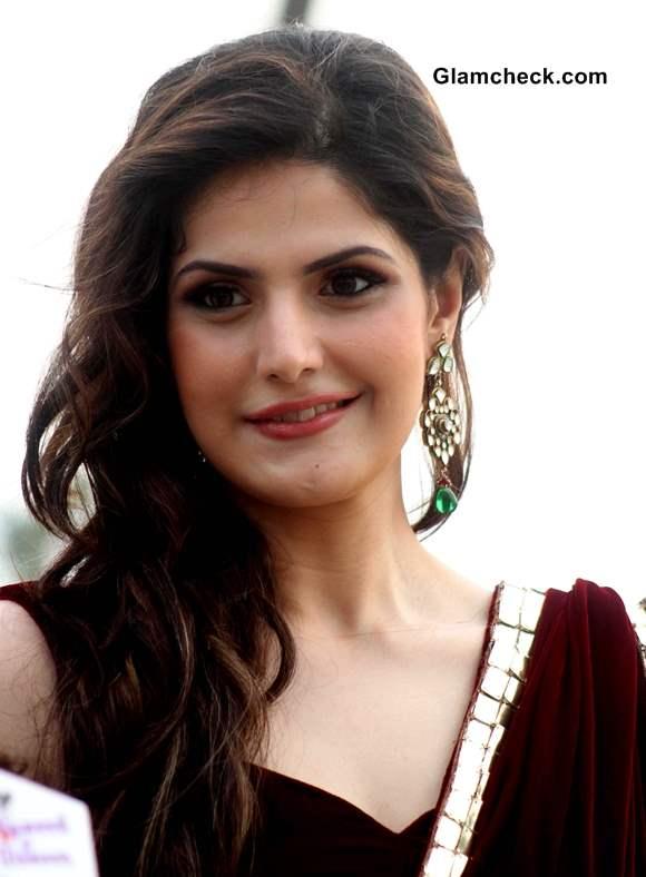 Zarine Khan 2013 pics in sari