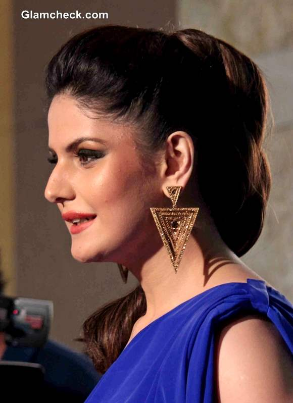 Zarine Khan Hairstyle at GQ Man of the Year Awards 2013