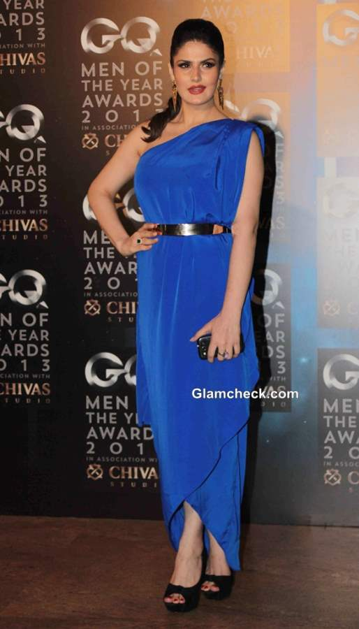 Zarine Khan in Mitali Wadhwa Gown at GQ Men of the Year Awards 2013