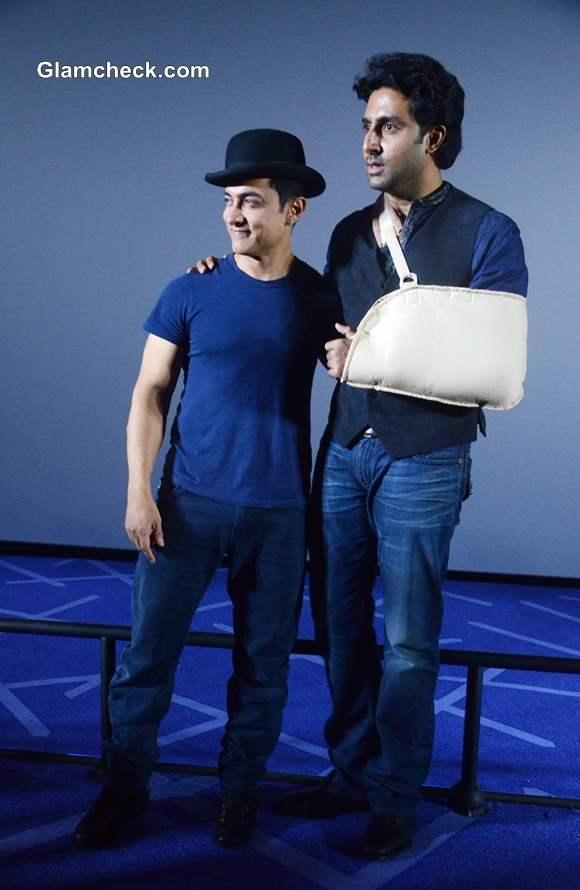 Aamir Khan and Abhishek Bachchan Launch Dhoom 3 Trailer