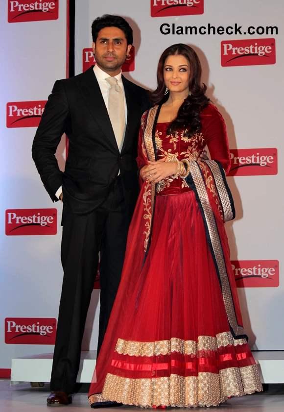 Abhishek Aishwarya Rai Bachchan at Prestige Event 2013