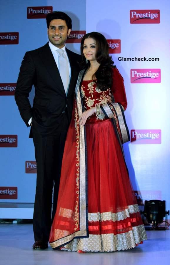 Abhishek Bachchan Aishwarya Rai at Prestige Event 2013