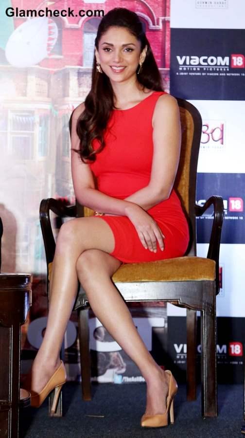 Aditi Rao Hydari in Red Dress at  Boss Promotions in New Delhi