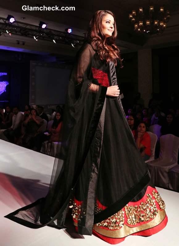 Aishwarya Rai Bachchan in Royal Black Lehenga at Longines Watch Collection  Launch