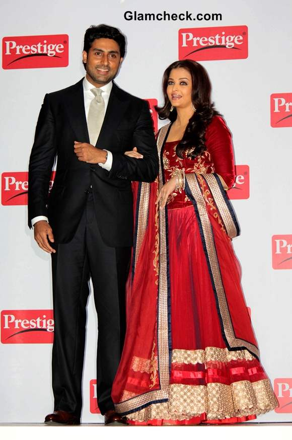 Aishwarya Rai and Abhishek Bachchan 2013 Prestige event