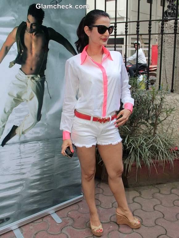 Ameesha Patel in White Shorts