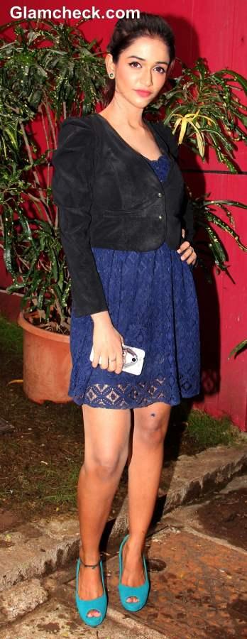 Anaika Soti during Satya 2 Promotions