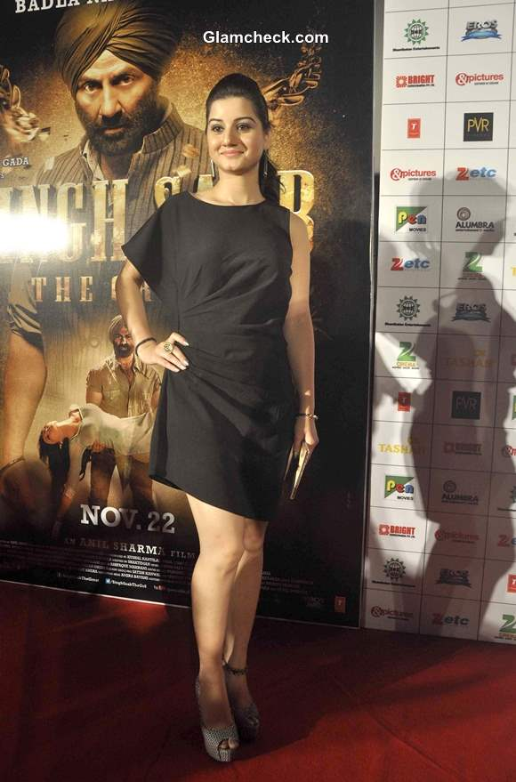 Anjali Abrol at Singh Saab The Great Music and Trailer Launch in Mumbai