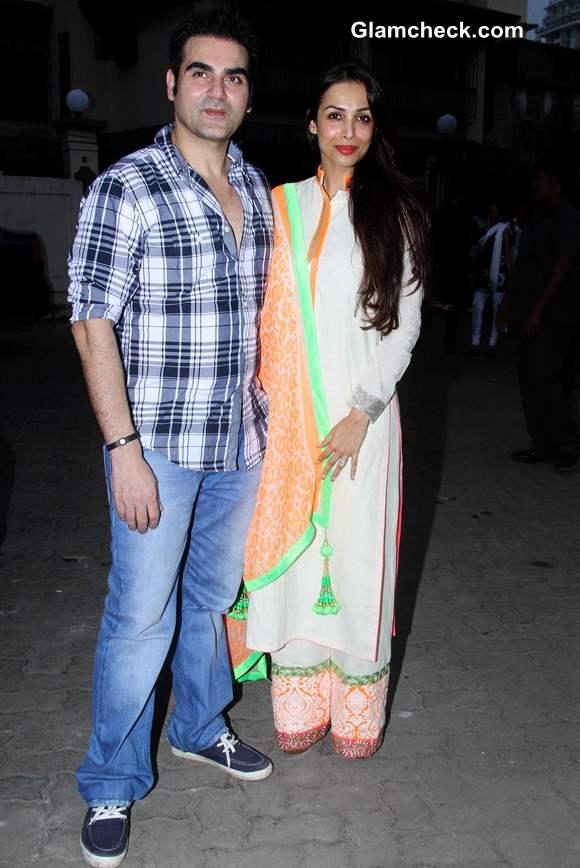 Arbaaz Khan with his wife and actor Malaika Arora Khan at Ahakzai by Alvira Khan Store Launch