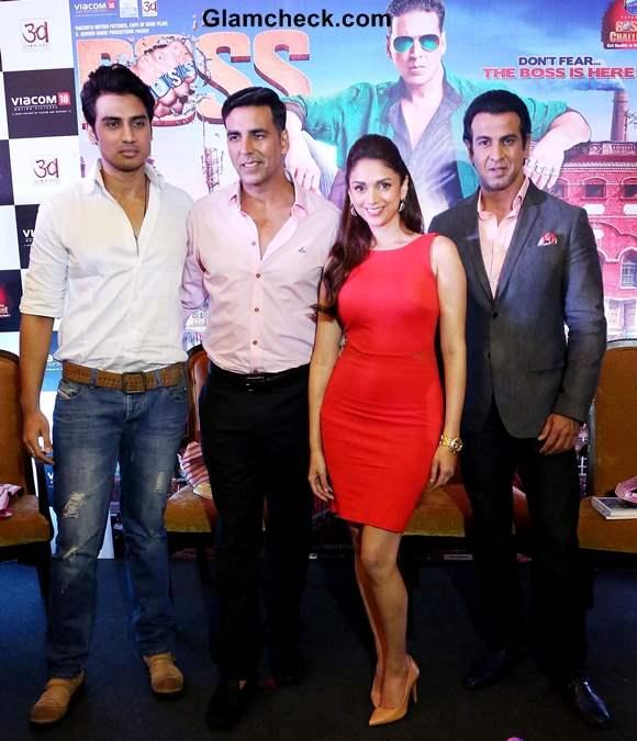Cast of Boss Promote Film  in New Delhi