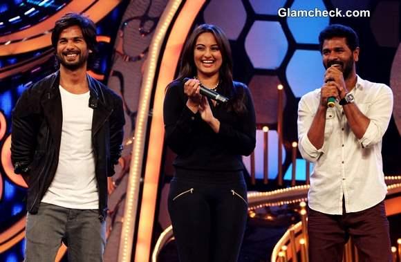 Cast of R Rajkumar Launch Song Gandi Baat on Dance India Dance