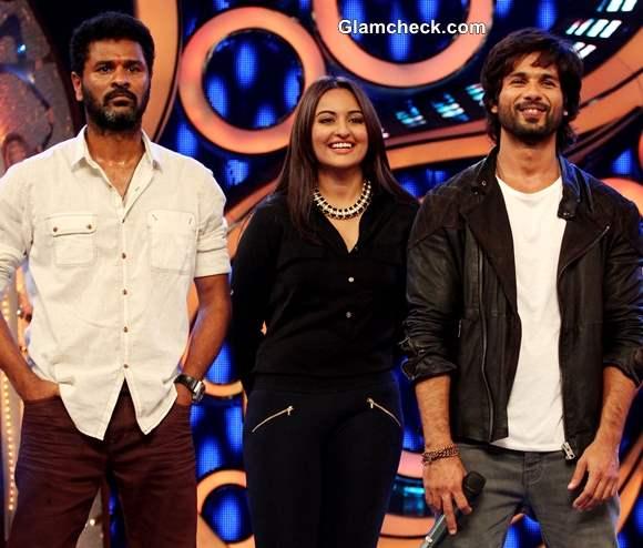 Cast of R Rajkumar on Dance India