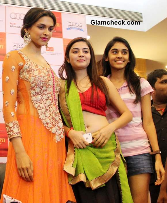 Deepika Padukone in Orange Anarkali