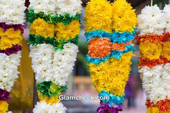 Dhanteras Shopping Flower Garlands