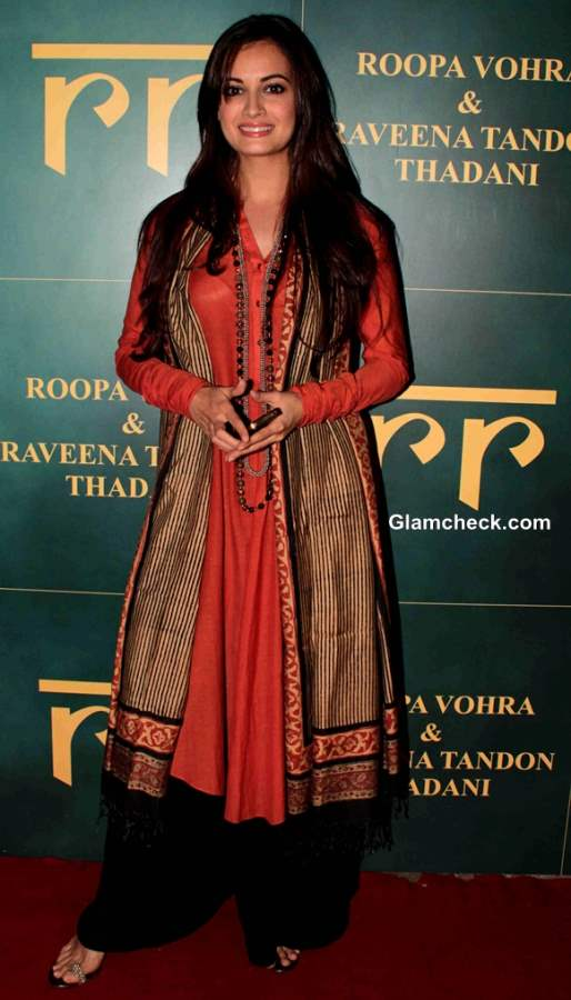 Dia Mirza  at Raveena and Roopa Jewellery Line Launch