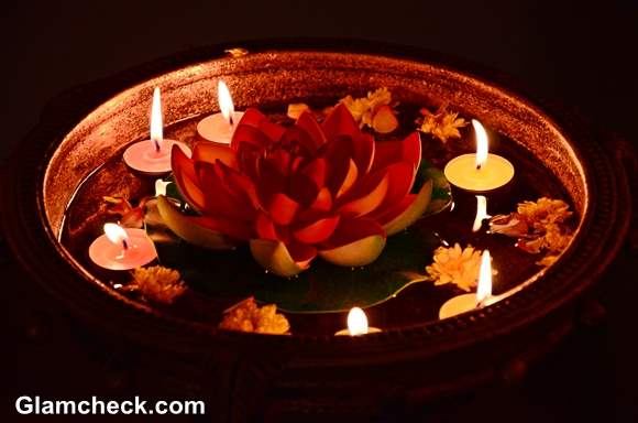 Decoration of diwali in home best free home design for How to make diwali decorations at home