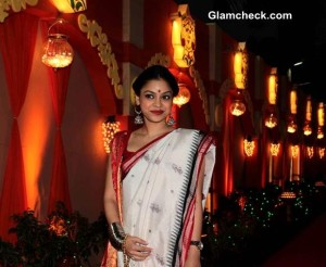 Get the Look – Sumona Chakravarti's Durga Puja Ensemble
