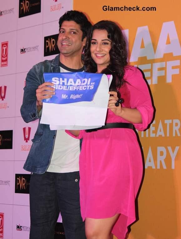 Farhan Akhtar and Vidya Balan Launch Shaadi Ke Side Effects Trailer