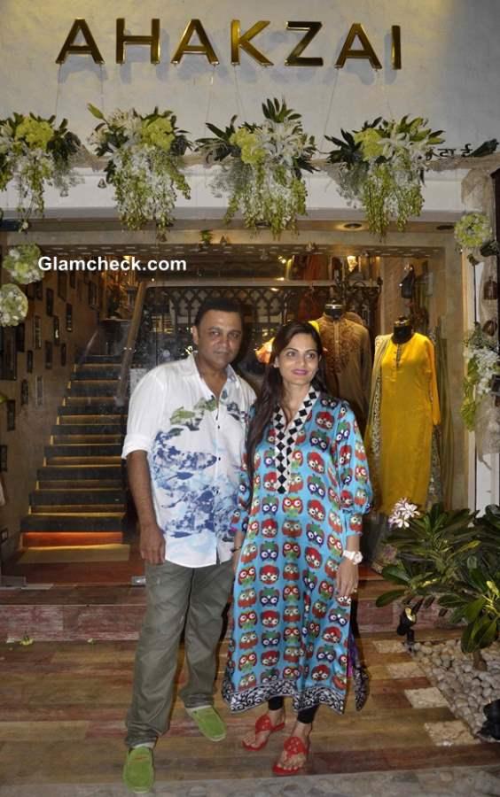 Fashion designer Ashley Rebello and Alvira Agnihotri at Ahakzai by Alvira Store Launch