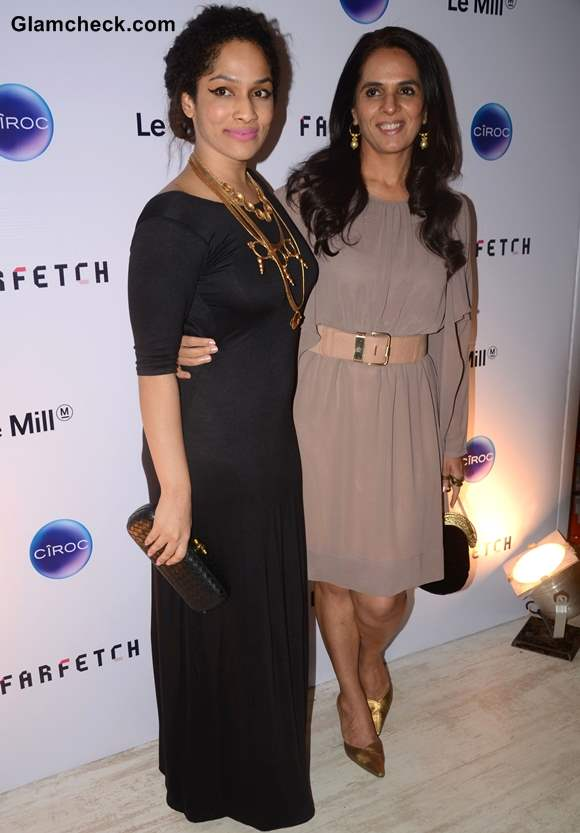 Fashion designer Masaba Gupta and Anita Dongre at Le Mill Store Launch