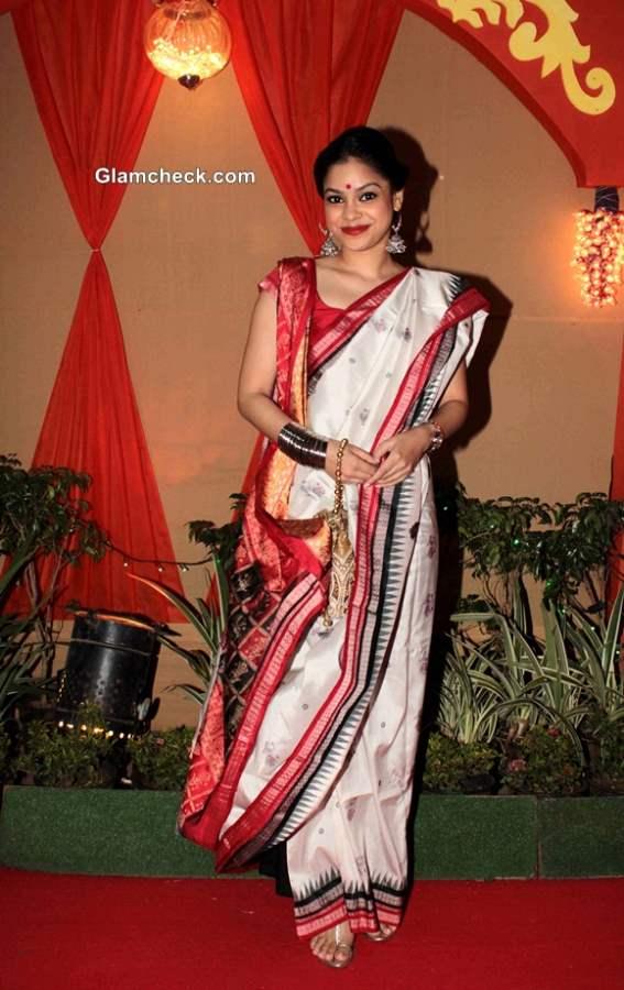 Get the Look - Sumona Chakravarti Durga Puja Ensemble