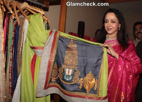 Hema Malini Inaugurates Art Couture Exhibition in Mumbai