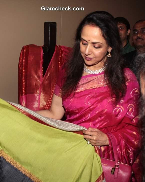 Hema Malini at Art Couture Exhibition in Mumbai