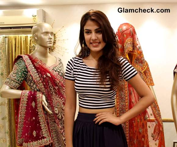 How to Wear a Cropped Top with a Maxi Skirt like Rhea Chakraborty