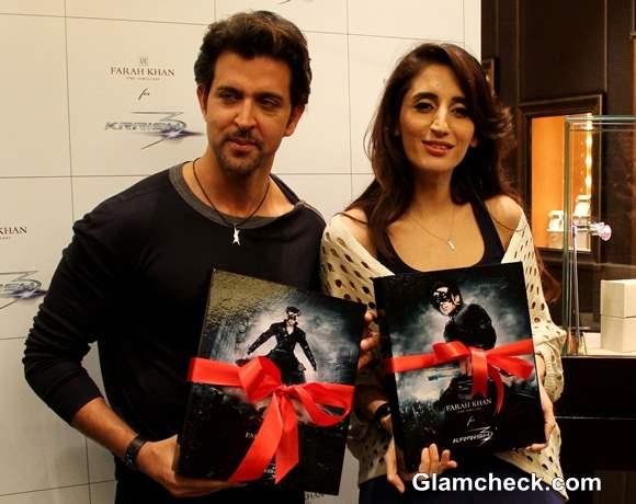 Hrithik Roshan Launches Krrish 3 Jewellery Line with Farah Khan Ali