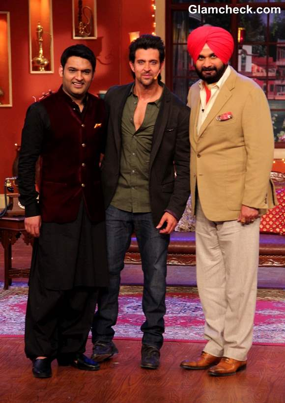 Hrithik Roshan at Comedy Nights with Kapil Diwali Episode