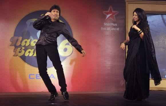 Indian stand-up comedian Raju Shrivastav with his wife shikha Season 6  Nach Baliye Contestant