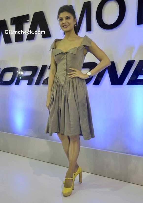 Jacqueline Fernandez Pictures at Tata Nano at Autocar Performance Show 2013