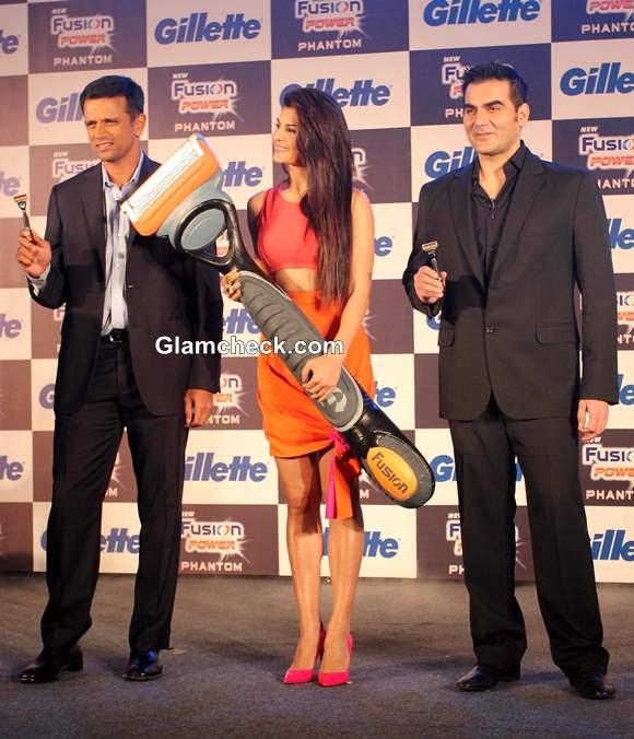 Jacqueline Fernandez Rahul Dravid Arbaaz Khan at Gillette New Shaving System Launch
