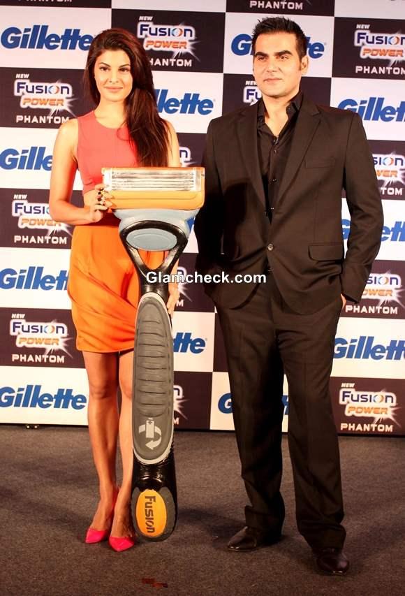 Jacqueline Fernandez and Arbaaz Khan at Unveiling of Gillette New Shaving System