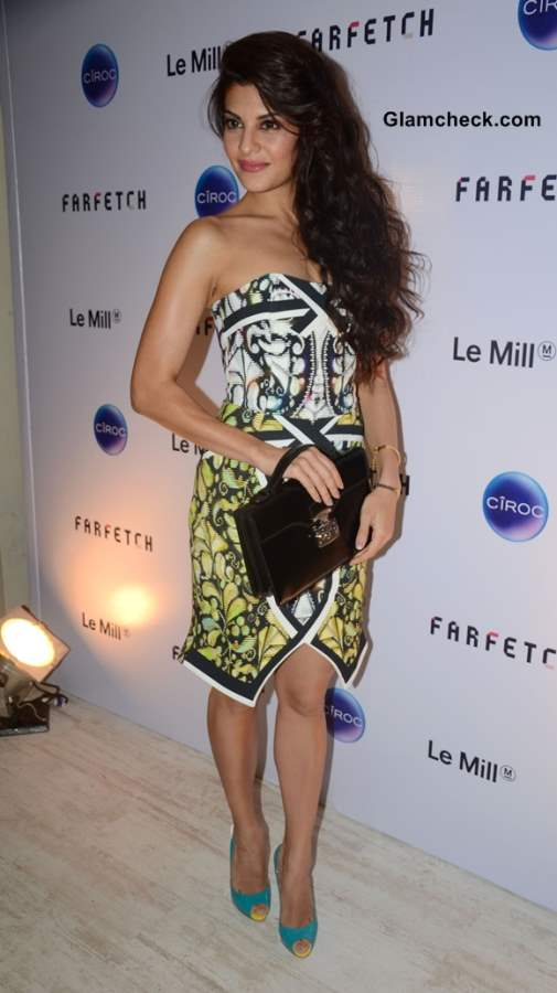 Jacqueline Fernandez in Peter Pilotto at Le Mill Grand Opening