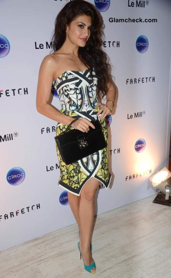 Jacqueline Fernandez in Peter Pilotto dress at Le Mill Grand Opening
