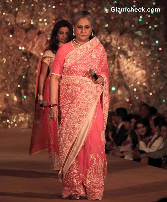 Jaya Bachchan for The Golden Peacock Collection by Abu Jani and Sandeep Khosla