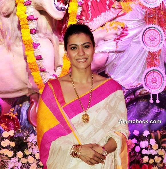 Kajol Celebrates Durga Puja 2013 in Juhu
