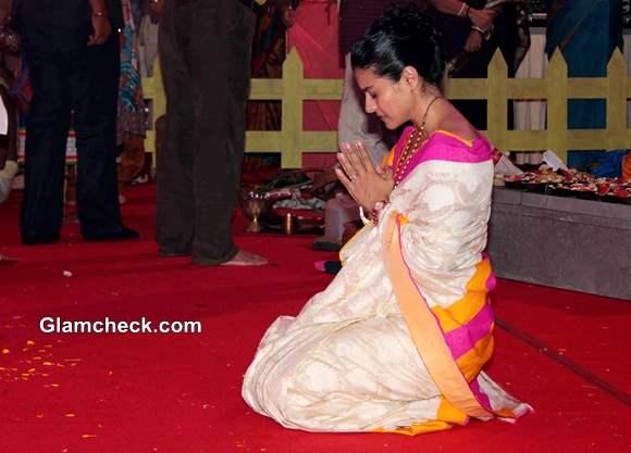 Kajol Durga Puja 2013 Pictures