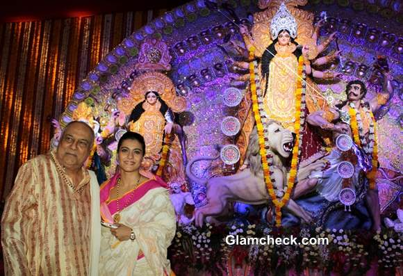 Kajol at Durga Puja 2013