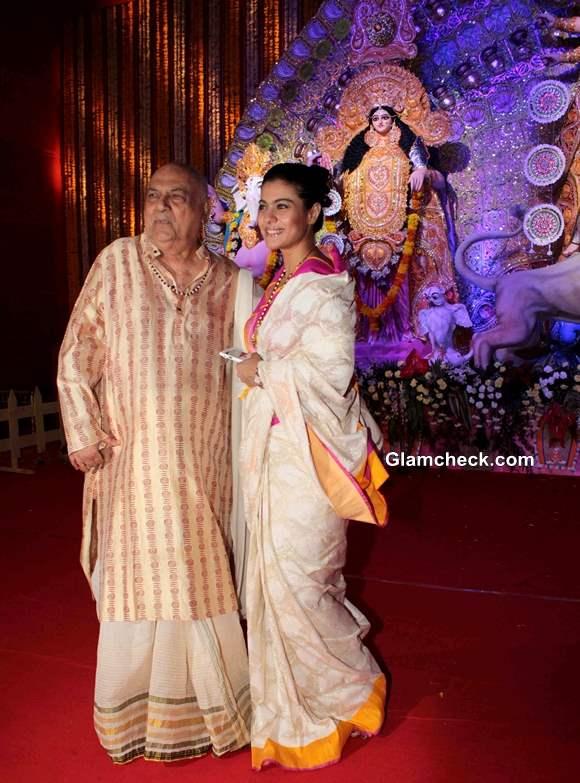 Kajol celebrates Durga Puja 2013