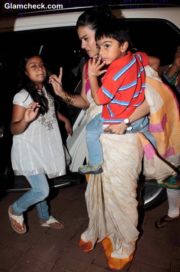 Kajol with Kids Celebrate Durga Puja in Juhu