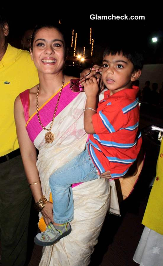 Kajol with son Yug Pictures