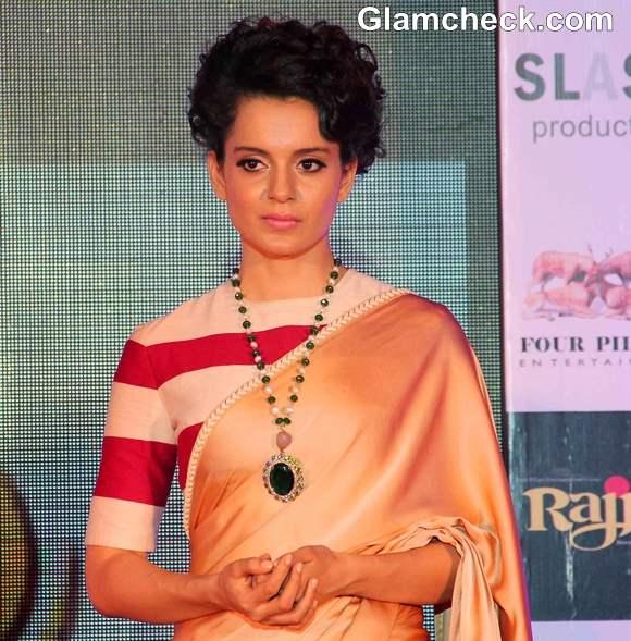 Kangana Ranaut 2013 Hairstyle Rajjo Music Launch