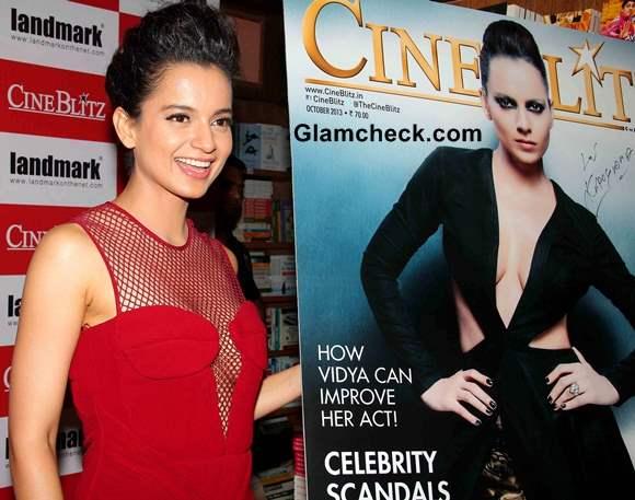 Kangana Ranaut 2013 at Cine Blitx Magazine Unveiling