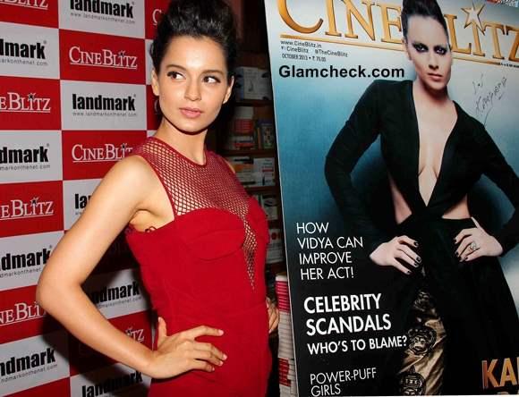 Kangana Ranaut Cine Blitx Magazine Unveiling