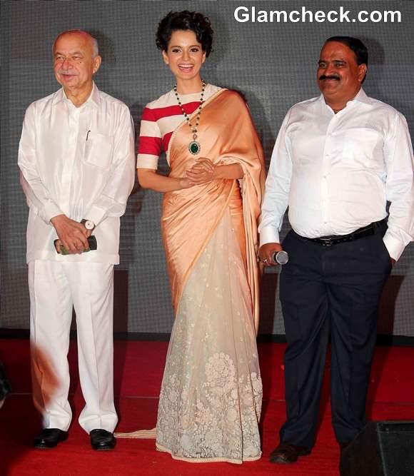 Kangana Ranaut in Sari at Rajjo Music Launch