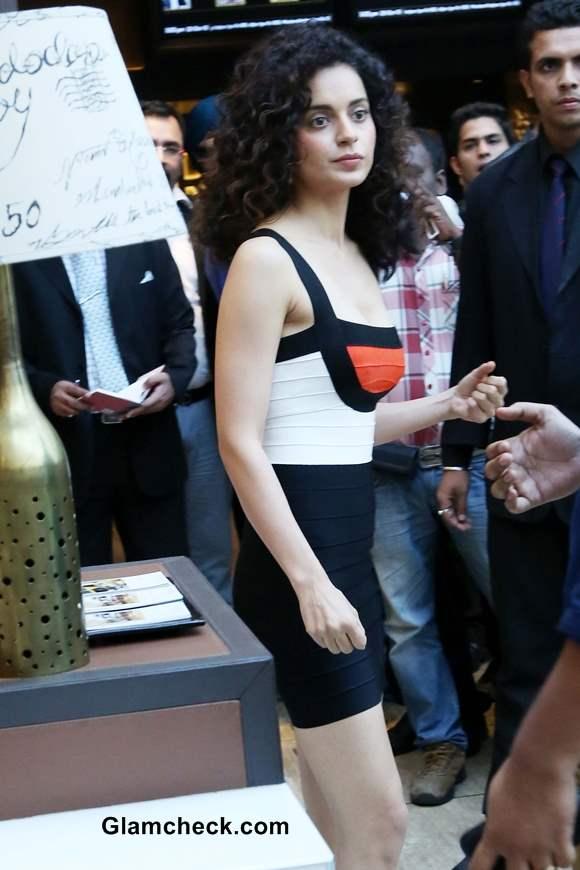 Kangana Ranaut in bodycon dress at Krissh 3 Promotions