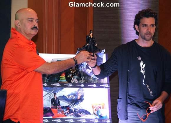 Krrish 3 Merchandise Launched in Mumbai by Hrithik and Rakesh Roshan