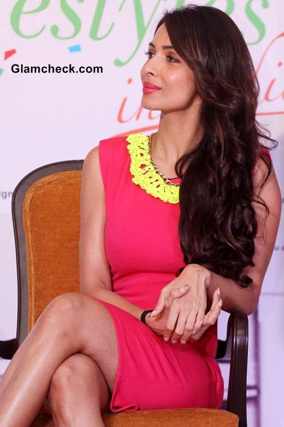 Malaika Arora Khan in Pink Dress at Taiwan Excellence Campaign 2013